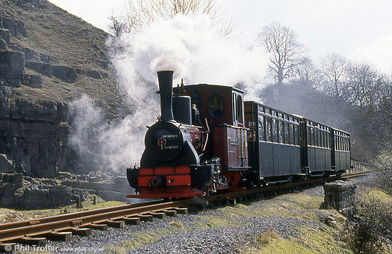 BMR 'Graf Schwerin-Löwitz' proceeds along the formation of the Brecon & Merthyr railway, which was closed to traffic in 1964.