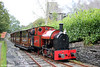 Corris Railway new build 0-4-2ST (Winson Engineering 17/2005)  no. 7 arrives at Corris on 24th September 2017. The society has also constructed a number of replica Corris Railway coaches.