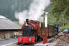Corris Railway new build 0-4-2ST (Winson Engineering 17/2005)  no. 7 waits to leave Maespoeth for Corris on 24th September 2017.