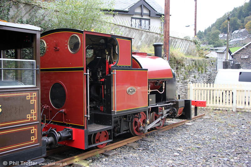 Corris Railway new build 0-4-2ST no. 7 at Corris on 24th September 2017. The loco is based on the Kerr Stuart 'Tattoo' class design of No. 4 which survives on the Talyllyn Railway.