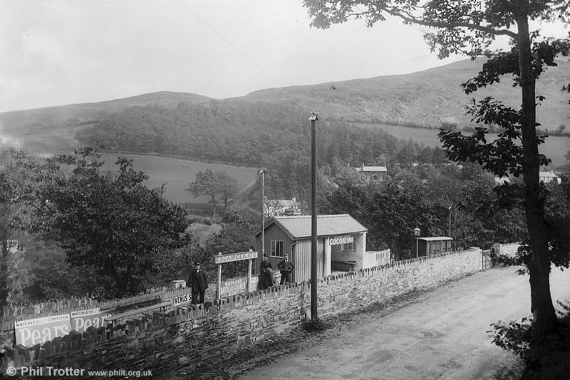 Esgairceiliog Station c.1885 (National Library of Wales).