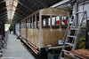 Replica Corris Railway coaches 23 and 24 under construction at Maespoeth. 24th September 2017.