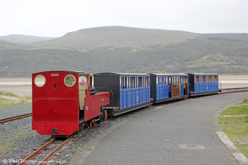 FR 2-6-4T 'Russell' at Barmouth Ferry on 8th October 2019.