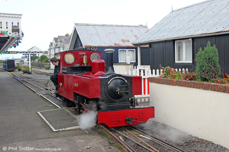 FR 2-6-4T 'Russell' prepares to haul the 1200 Fairbourne to Barmouth Ferry on 8th October 2019.