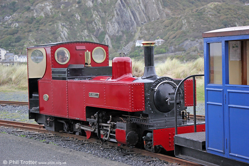 FR 2-6-4T 'Russell' at Barmouth Ferry on 8th October 2019. The loco was originally built for the Réseau Guerlédan.