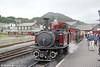 Ffestiniog Railway 0-4-4-0T No.10 (FRCo 1879) 'Merddin Emrys' waits to leave Porthmadog with the 1545 for Blaenau Ffestiniog on 7th September 2017.