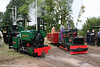 Kerr, Stuart (4256/1922) 0-4-0ST 'Peter Pan' and Alan Keef (30/1990) 0-4-0VBT 'Taffy' at the Alan Keef open day on 26th September 2009.