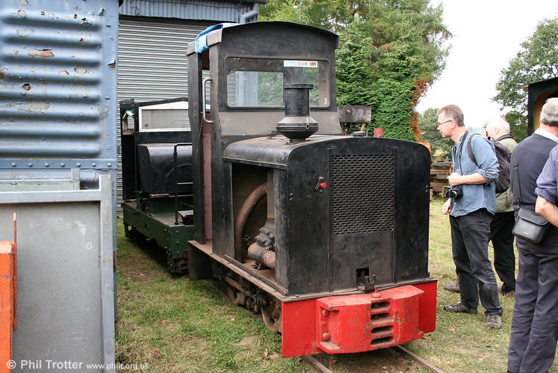 Deutz (19531/1937) 0-4-0DM no. 3 at the premises of Alan Keef on 26th September 2009. The loco was bought for preservation from the Coucy-le-Chateau sugar factory in northern France in 1970. It is fitted with a single cylinder engine with a four-speed gearbox.