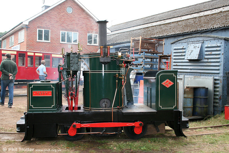 Alan Keef-built (30/1990) 0-4-0VBT 'Taffy' at its home premises on 26th September 2009.