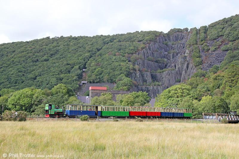 Llanberis Lake Railway Quarry Hunslet (1430/1922) 0-4-0ST no. 3 'Dolbadarn'between Gilfach Ddu and Llanberis on 16th August 2018.