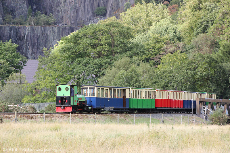 Llanberis Lake Railway Quarry Hunslet (1430/1922) 0-4-0ST no. 3 'Dolbadarn' departs from Gilfach Ddu on 16th August 2018.