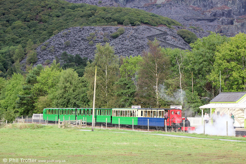 Llanberis Lake Railway Quarry Hunslet (493/1889) 0-4-0ST no. 1 'Elidir' at Llanberis on 5th September 2017.