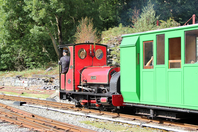 Llanberis Lake Railway Quarry Hunslet 0-4-0ST (493/1889) no. 1 'Elidir' at Gilfach Ddu on 16th August 2018.