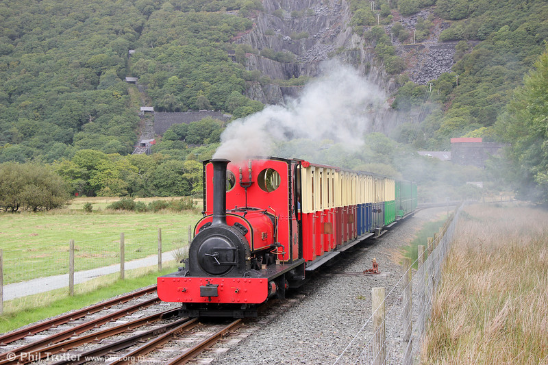 Llanberis Lake Railway Quarry Hunslet (493/1889) 0-4-0ST no. 1 'Elidir' on the 2003 extension between Gilfach Ddu and Llanberis on 6th September 2017.