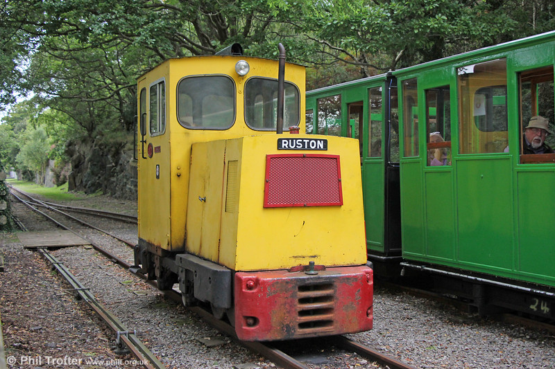 Llanberis Lake Railway Ruston (451901/1961) 4wDM no. 1 'Llanelli' at Cei Llydan on 6th September 2017. The loco was obtained from Thyssen, Llanelli.
