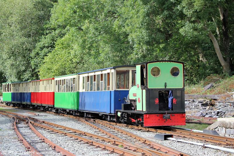 Llanberis Lake Railway Quarry Hunslet (1430/1922) 0-4-0ST no. 3 'Dolbadarn' approaching Gilfach Ddu on 16th August 2018.