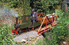 The Gwendraeth Miniature Railway's 0-4-0TT 'Jason' in action in July 1995.