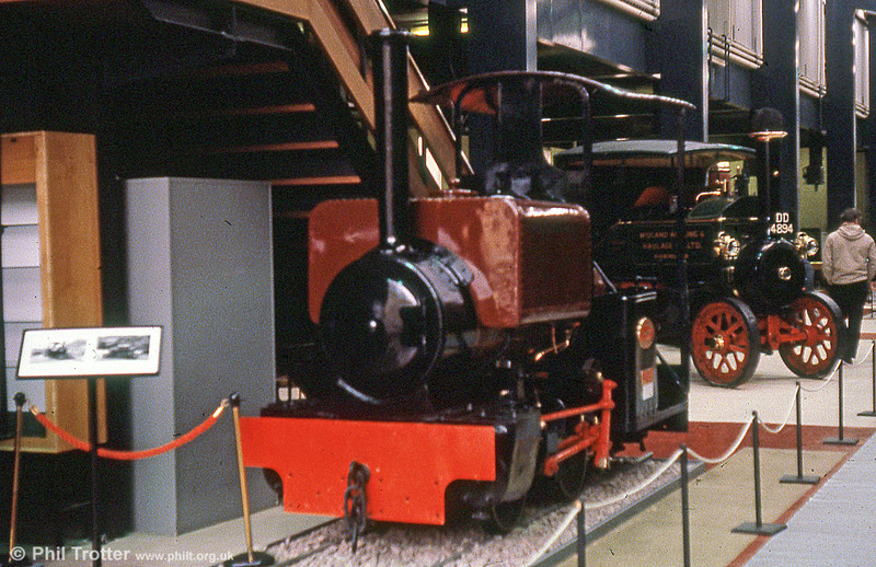 Kerr, Stuart 'Wren' class 0-4-0ST no. 56 'Lorna Doone' (4250/1922) seen at the ertswhile Birmingham Museum of Science and Industry; the loco is nowadays at the Amerton Railway. It is one of 27 built for R.H. Neal & Co. who then sold it to Devon County Council where it was named 'Lorna Doone' and later 'Barnstaple Surveyor No.56'. 163 'Wrens' were built by Kerr Stuart from 1903-1930.