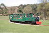 Another view of Margam Park Railway 0-4-0DH (AK65/2001) 'Margam Castle' as it leaves the Castle Halt on 5th April 2009.