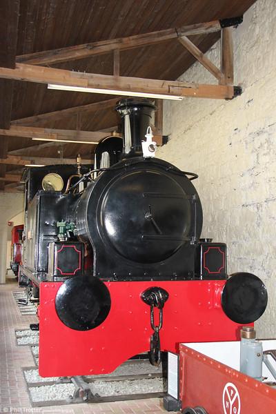 Hudswell Clarke (1223/1916) 0-6-0T 'Vesta'at the Penrhyn Castle Railway Museum on 6th September 2017.