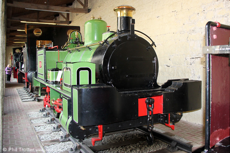 Neilson (1561/1870) 0-4-0WT No.1. at Penrhyn Castle Museum on 6th September 2017. The loco used to work at Beckton Gasworks, East London.