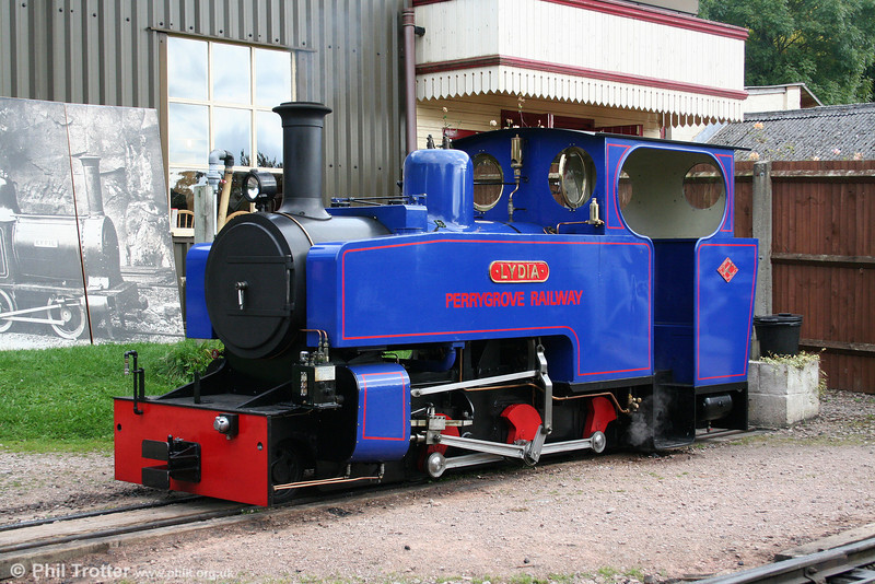 Alan Keef built this new 2-6-2T (77/2007) 'Lydia' for the Perrygrove Railway. It is seen awaiting its next duty at Perrygrove on 26th September 2009.