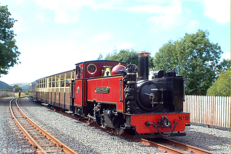 Aberystwyth-based former GWR 2-6-2T no.9 'Prince of Wales' at Capel Bangor on 3rd August 2005.