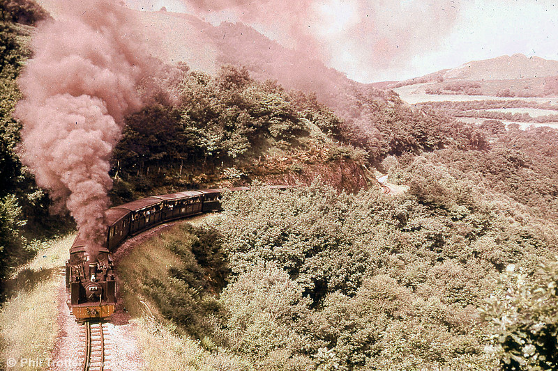 Vale of Rheidol 2-6-2T no.7 'Owain Glyndwr' near Devil's Bridge in the 1960s. (P.Trotter Collection)