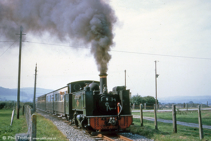 Vale of Rheidol 2-6-2T no.9 'Prince of Wales' departs from Capel Bangor on 2nd September 1961 (P.Trotter Collection)