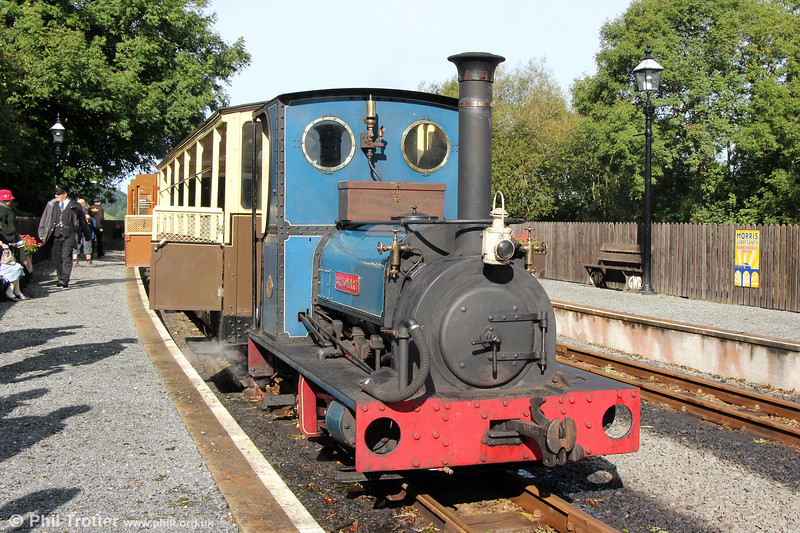 Quarry Hunslet 0-4-0ST (707/1899) 'Britomart' at Capel Bangorwith the 1000 from Aberystwyth  on 16th September 2017.