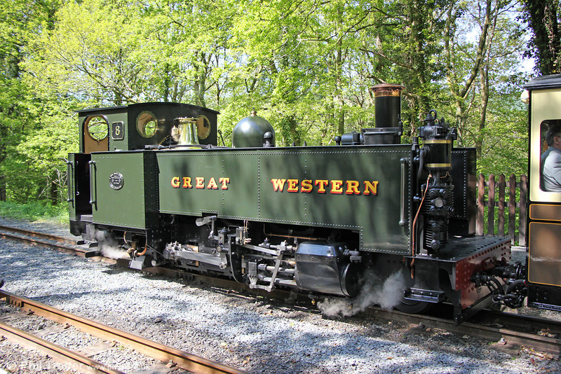 Vale of Rheidol GWR 2-6-2T no. 8 'Llewelyn' at Aberffrwd with a return charter from Devil's Bridge on 25th May 2013.
