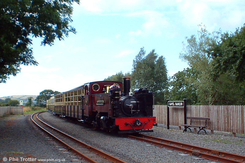 Vale of Rheidol no.9 'Prince of Wales' calls at Capel Bangor with the 1545 Aberystwyth to Devil's Bridge on 3rd August 2005.