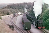 A busy scene at Devil's Bridge, VoR, with two trains at the terminus of the line. (P.Trotter Collection)