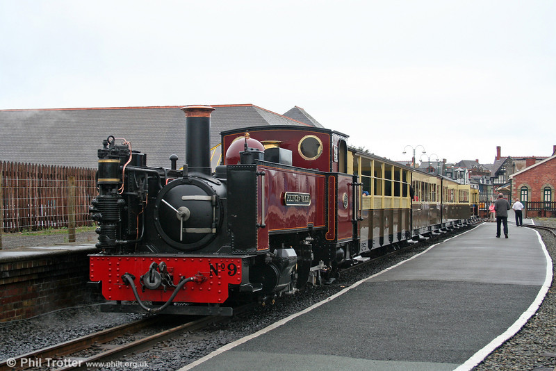 Vale of Rheidol 2-6-2T no.9 'Prince of Wales' waits to leave Aberystwyth with the 1215 to Devil's Bridge on 29th August 2005.