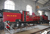 Recently acquired from the Schinznacker Baumschul Bahn in Switzerland, ex-SAR NGG13 Garratt 2-6-0 + 0-6-2 no 60 'Drakensberg' (Hanomag/1927) in the workshop at Aberystwyth on 16th September 2017. The NGG13 loco was allocated to the Umlaas Road-Mid Illovo line in Natal.  The SchBB is a 600mm line that runs in and around the Zulauf Garden Centre located in Schinznach-Dorf in Canton Argau, south-east of Basel.