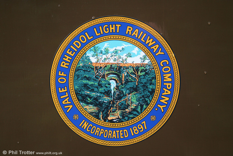 The Vale of Rheidol crest, as displayed on one of the line's coaches, 29th August 2005.