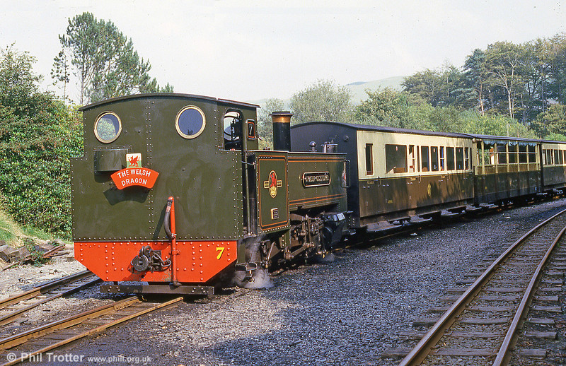 Vale of Rheidol no.7 at Devil's Bridge. Now privately run, the Vale of Rheidol was British Rail's last steam-worked line.