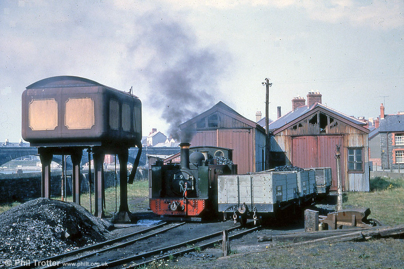 Vale of Rheidol 2-6-2T no.9 'Prince of Wales' on shed at Aberystwyth on 2nd September 1961 (P.Trotter Collection)
