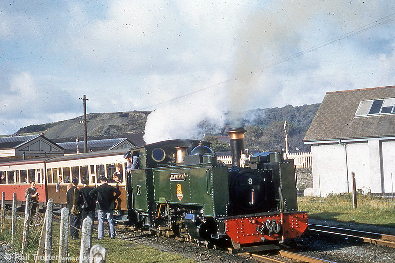 Vale of Rheidol 2-6-2T no.8 'Llewelyn' waits to leave Aberystwyth during the 1960s. (P.Trotter Collection)