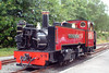 A study of Vale of Rheidol no.9 'Prince of Wales' at Devil's Bridge on 3rd August 2005. Following 'privatisation' the locomotive was fitted with Westinghouse brake gear, as seen on the running plate to the left of the smokebox.