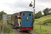 Quarry Hunslet 0-4-0ST (707/1899) 'Britomart' approaches Capel Bangor with the 1545 Aberffrwd to Aberystwyth on 16th September 2017. Air braking for the train was provided by a compressor in the Guards' Van.