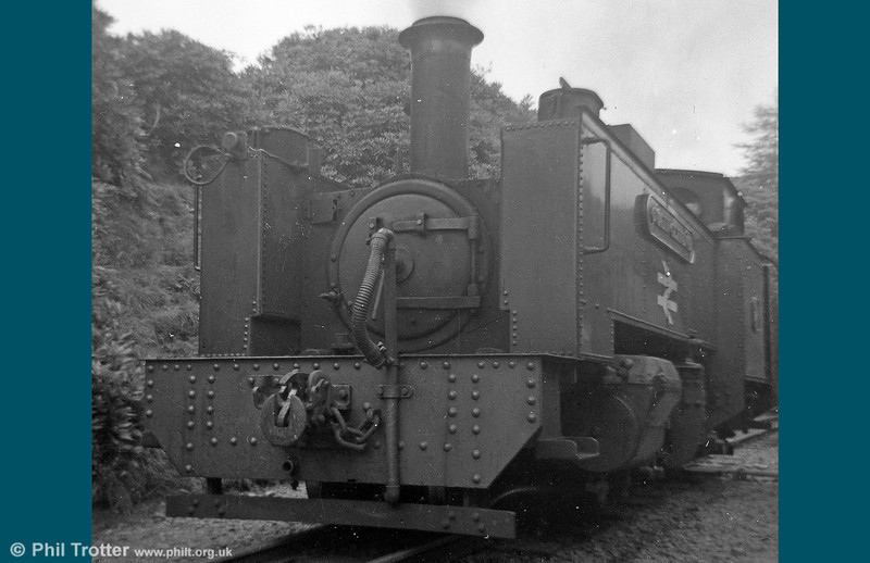 An early 1970s view of VoR 2-6-2T no. 7 'Owain Glyndwr' at Devil's Bridge.