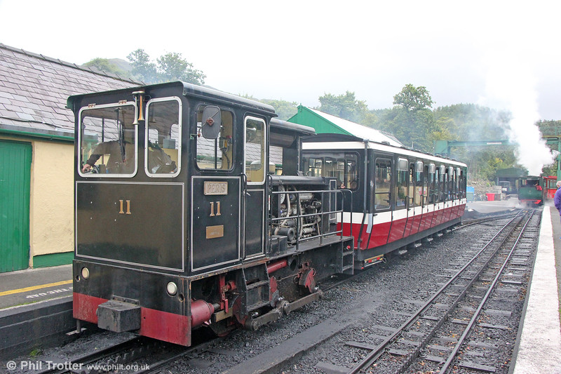 Snowdon Mountain Railway Hunslet (9305/1991) 0-4-0DH no. 11 'Peris' at Llanberis on 7th September 2017.