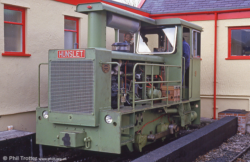 The Snowdon Mountain Railway took delivery of two 0-4-0DH diesel locomotives in 1986. No. 9, 'Ninian' (Hunslet 9249/1986) is seen at Llanberis in June of its year of build.