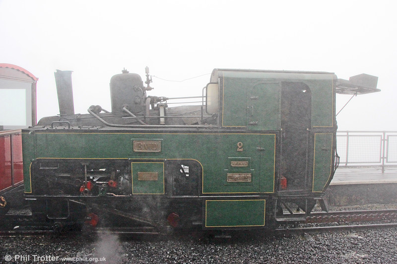 SMR SLM (924/1895) 0-4-2RT no. 2 'Enid' at Snowdon Summit on 7th September 2017.