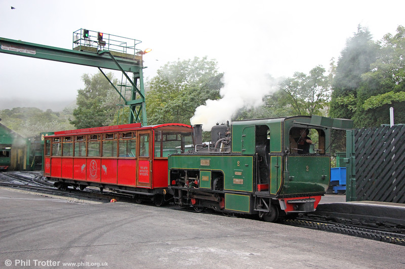 Snowdon Mountain Railway SLM (924/1895) 0-4-2RT no. 2 'Enid' at Llanberis on 7th September 2017.
