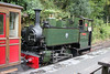 Talyllyn Railway 0-4-2T no.7 'Tom Rolt' at Abergynolwen with the 1245 Nant Gwernol to Tywyn Wharf on  9th September 2017.