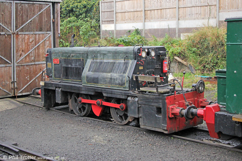 TR Hunslet 0-4-0DM (4136/1950) 'Alf' at Towyn Pendre on 11th October 2019.  Ex-NCB Huncoat colliery in Lancashire and named after Alf Robens, chairman of the National Coal Board.