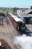 Talyllyn Railway 0-4-0WT no. 6 'Douglas' (AB1431/1916) departs from Tywyn Wharf.
