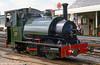 Talyllyn Railway 0-4-2ST no. 3 'Sir Haydn' (Hughes 323/1878) at Tywyn in September 1987.